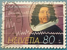 Buy Stamp Switzerland 1994 International Mathematics Congress Jakob Bernoulli (1654-1705)