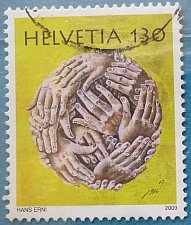 Buy Stamp Switzerland 2009 Birth Centenary of Hans Erni Human Hands 130 Centime