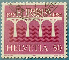 Buy Stamp Switzerland 1984 Europa (C.E.P.T.) 1984 - Bridge-25th Anniversary of C.E.P.T
