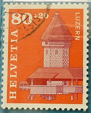 Buy Stamp Switzerland 1993 Rebuilding the Luzern Chapel Bridge (burned 17 August 1993)