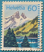 Buy Stamp Switzerland 1993 Mountain Lakes Lac de Tanay 60 Centime
