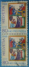 Buy Stamp Switzerland 1988 Pro Patria Master Johannes Hadlaub 80+40 Centime Pair