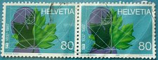 Buy Stamp Switzerland 1987 150 years Human, leaves & graphics 80 Centime Pair