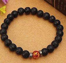 Buy black beads alloy bracelet
