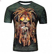 Buy men 3D LION printed tshirt top