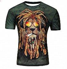Buy men 3D LION printed tshirt top