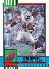 Buy John Stephens #427 - Patriots 1990 Topps Football Trading Card