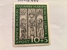 Buy Germany Marien church Lubeck 10+5p mnh 1951