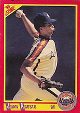 Buy Jaun Agosto - Astros 1990 Score Baseball Trading Card #284
