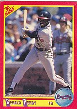 Buy Gerald Perry #249 - Braves 1990 Score Baseball Trading Card