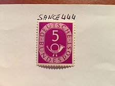 Buy Germany Definitives Posthorn 5p mnh 1951
