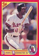 Buy Claudell Washington #298 - Angels 1990 Score Baseball Trading Card