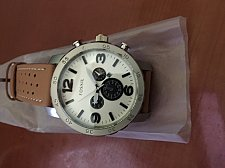 Buy Giant automatic PU leather wrist brown Watch Free shipping
