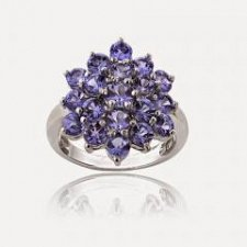 Buy Sterling Silver 2.5ct TGW Tanzanite Flower Ring