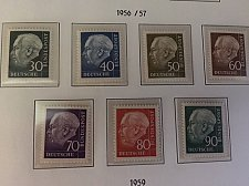 Buy Germany Definitive Heuss mnh 1956/7