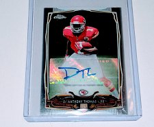 Buy NFL De'Anthony Thomas Chiefs Topps Chrome Auto RC MNT