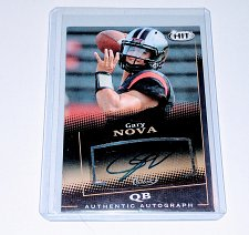 Buy NFL Gary Nova Carolina Panthers Sage Hit AUTO RC MNT