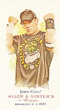 Buy John Cena - WWE 2007 Topps Heritage Allen & Ginter Mini Wrestling Trading Card #1