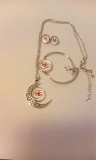 Buy Kansas City chiefs 3 piece jewelry set new free shipping