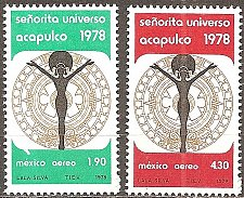 Buy Mexico: Scott No. C570-C571 Miss Universe (1978) MNH