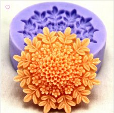 Buy fashion cookie flower diy jewelry silicon mould