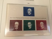 Buy Germany Konrad Adenauer s/s mnh 1967