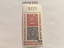 Buy Germany Northern German stamp centenary mnh 1968