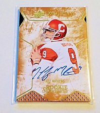 Buy NFL JEFF MATHEWS AUTOGRAPHED 2014 UPPER DECK EXQUISITE COLLECTION SP 7/55 MNT