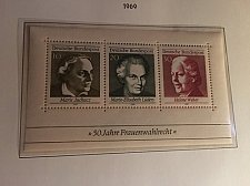 Buy Germany Women election rights s/s mnh 1969