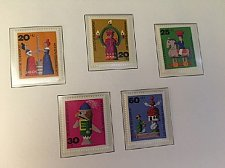 Buy Germany Welfare Wooden toys and Christmas mnh 1971