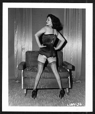 Buy HOT MODEL LIBBY SATIN BUSTIER REARVU POSE VINTAGE IRVING KLAW PHOTO 4X5 #36