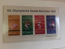 Buy Germany Olympic Games Munich s/s mnh 1972