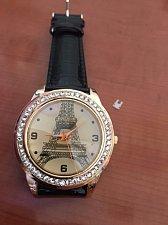 Buy Crystal Eiffel Tower Leather Watch new