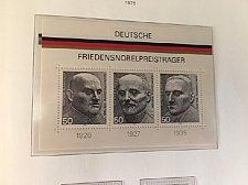 Buy Germany Peace Nobel prize winners s/s mnh 1975