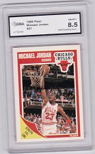 Buy 1989-90 Fleer Michael Jordan Graded GMA 8.5 #21 Chicago Bulls Basketball Cards