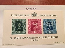 Buy Liechtenstein National Stamp Exhibition s/s mnh 1949