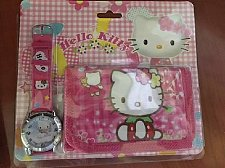 Buy Hello Kitty red watch & wallet kids Set new