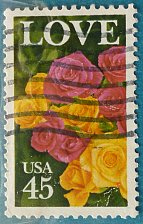 Buy Stamp USA United States of America 1988 Love - Roses 45c
