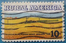 Buy Stamp USA United States of America 1974 Rural America - Wheat Fields and Train 10c