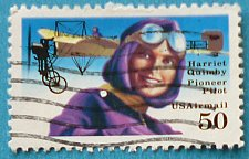 Buy Stamp USA United States of America 1991 Aviation Pioneers - Harriet Quimby & Blériot