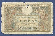 Buy France 100 Francs 1927 Banknote #426511141 M17061 - Signature: Le Caissier Principal