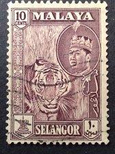 Buy Malaya 1v used stamp Selengor 1957 SG 122 Tiger Fine Used SG 122