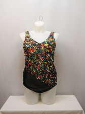 Buy PLUS SIZE 20W Women 1PC Confetti Swimsuit AQUABELLE V-Neck Chlorine Resistant