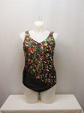 Buy PLUS SIZE 20W Women 1PC Confetti Swimsuit AQUABELLE V-Neck Chlorine Resistant