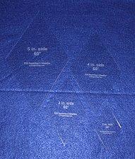 "Buy 60° Diamond 4 Pc Set- 2"",3"",4"",5"" Actual side sizes Acrylic 1/8"" Quilt Templat"