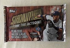 Buy new sealed PACK Topps 2000 Stadium Club Capture The Action One baseball RELICS