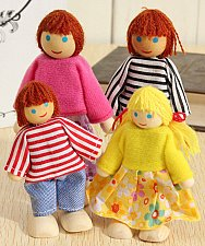 Buy 4PCS wooden dolls toys