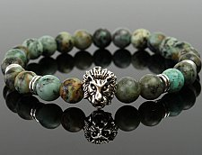 Buy fashion lion head alloy bracelet