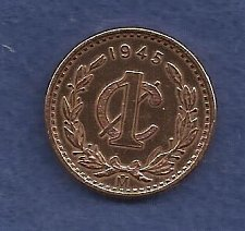 Buy Mexico 1 Centavo 1945 Coin