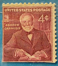 Buy Stamp USA United States of America 1960 Andrew Carnegie 3c Perforation left and botto